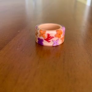 Louis Vuitton Lucite Multicolor Signature Ring